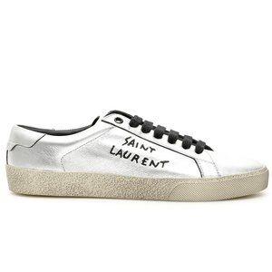 Saint Laurent Paris Court Classic Metallic Sneaker